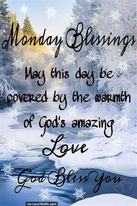 monday blessings winter quote pictures   images