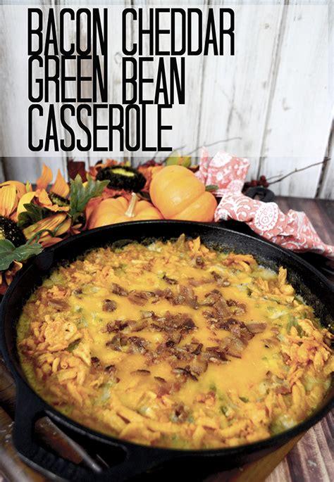 bacon cheddar green bean casserole