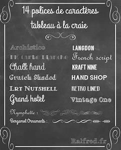 Tableau Craie Cuisine : 14 polices de caract res pour r aliser un tableau la craie chalkboard lettering ~ Teatrodelosmanantiales.com Idées de Décoration