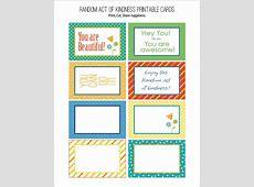 Random Act of Kindness Free Printables Carla Schauer Designs