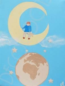 Tableau Chambre Bébé Garçon : tableau enfant de la terre la lune d coration chambre enfant b b tableau enfant b b ~ Melissatoandfro.com Idées de Décoration