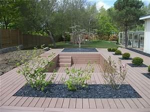 Pose Terrasse Bois Sur Gravier : poser une terrasse en bois sur gravier ~ Premium-room.com Idées de Décoration
