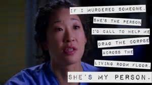 Grey's Anatomy My Person Quote