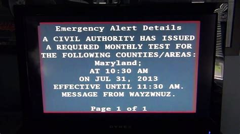 emergency alert system required monthly test  youtube