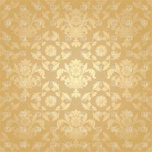 Seamless beige victorian wallpaper with floral pattern ...