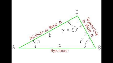 sinus cosinus tangens cotangens beim rechtwinkligen