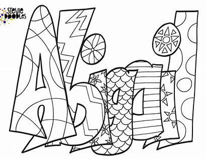 Coloring Names Popular Abigail Classic Printable Doodle