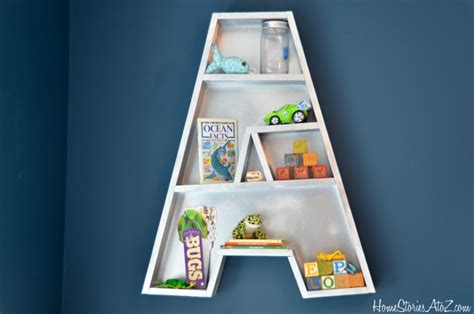 letter  bookshelf tutorial  diy starts  home