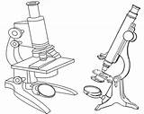 Microscope Coloring Clipart Sheet Teacher Drawing Webstockreview Students sketch template