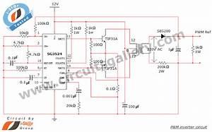 Simple Pwm Inverter Circuit Diagram Using Pwm Chip Sg3524
