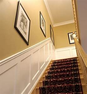 Recessed Paneled Wainscoting for Stairs - Traditional