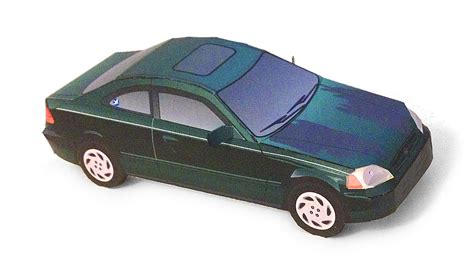 honda civic paper car  paper model papermodeler