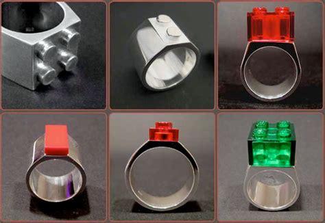 lego silver rings  brick  marriage gizmodo australia