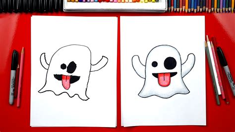 How To Draw The Ghost Emoji  Art For Kids Hub