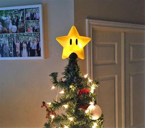 super mario bros power star christmas tree topper