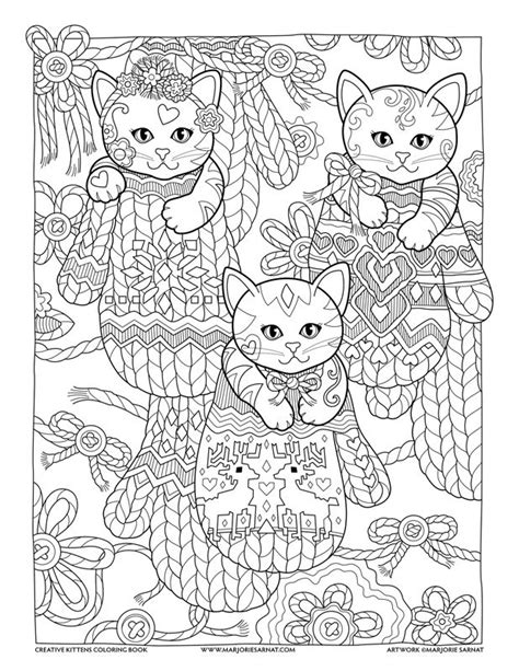 mittens creative kittens coloring book  marjorie