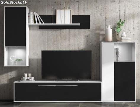 mueble de salon comedor modulos estilo moderno color negro