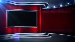 Red Background News Set Stock Video Footage