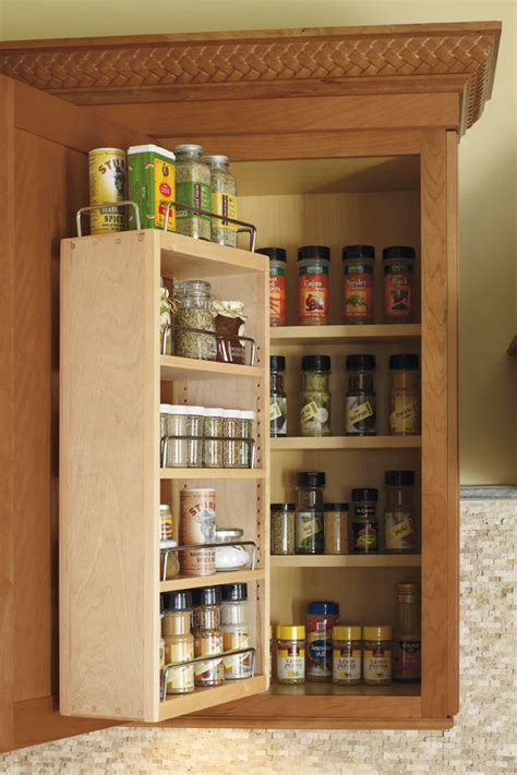 wall spice rack cabinet kemper cabinetry