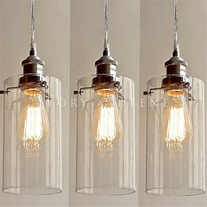Allira glass pendants filament light chrome fittings