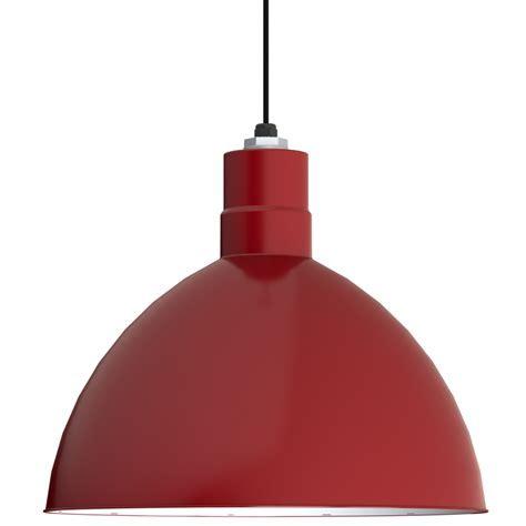 Wesco Cord Hung Pendant, Deep Bowl Shade   Barn Light Electric