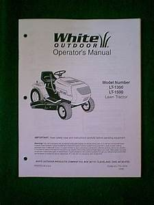 White Lawn Tractor Riding Mower Models Lt