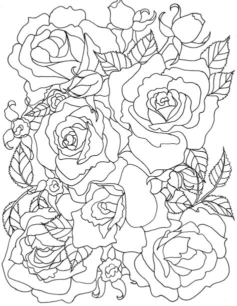 original and fun coloring pages Rose coloring pages