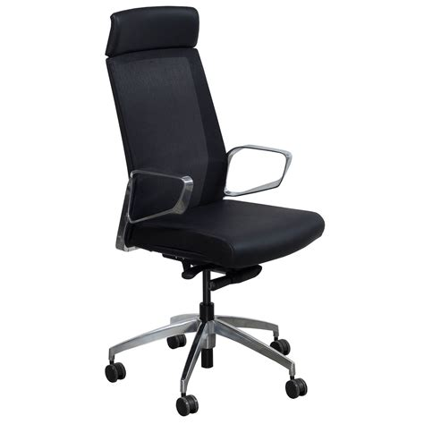 maris by gosit leather and mesh high back conference chair