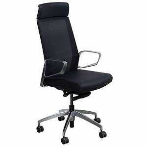 Maris, By, Gosit, Leather, And, Mesh, High, Back, Conference, Chair, Black