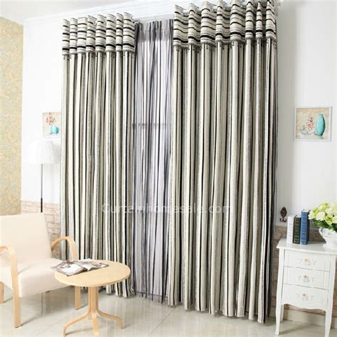 fancy striped linen and cotton black and white patterned