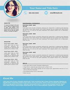 Shapely Blue resume template edit easily in Word s