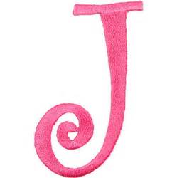 p 7194 iron on curlz letter j hot pink
