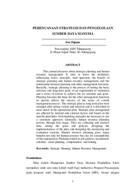 Contoh Jurnal Msdm Internasional - Contoh Oliv
