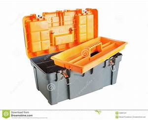 Open plastic tool box stock image. Image of container ...