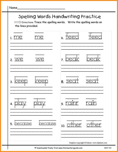 1st grade spelling words worksheet the best and most