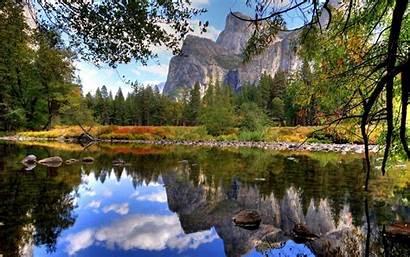 Yosemite National Desktop Park Lake Water Background