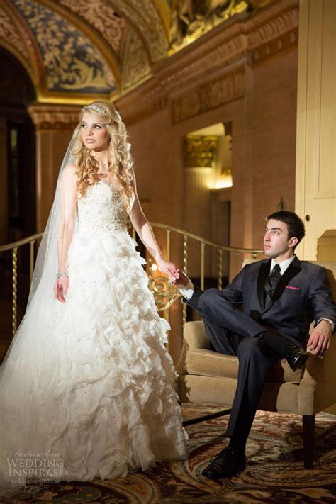 chic city wedding  downtown chicago wedding inspirasi