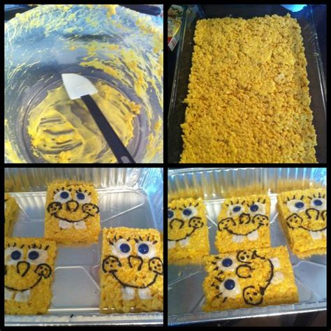 spongebob cuisine made spongebob rice crispy treats for my 39 s 3rd