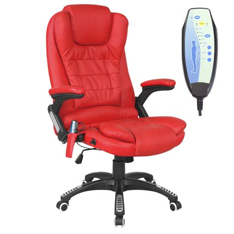 massaging office desk chair rio leather reclining office chair w 6 point massage high