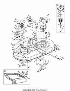 Mtd 13ax935t001  2014  Parts Diagram For Mower Deck