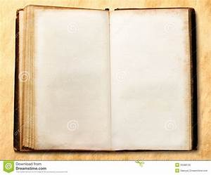 Old Open Blank Book Stock Photo - Image: 35588720