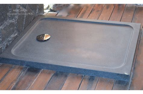 1000x800 Grey Granite Stone Shower Tray   MERCURION