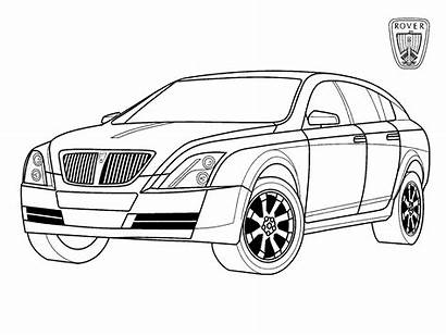 Coloring Rover Pages Cars Vehicles