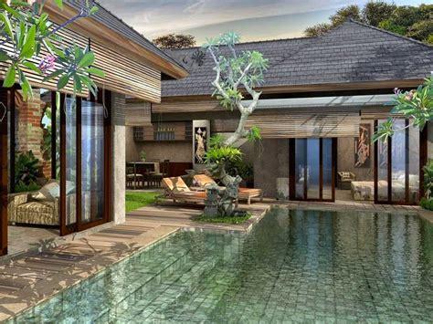 denah rumah minimalis  kolam renang gambar