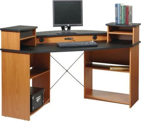 corner computer desk with hutch staples staples 174 has the osp design mercury corner desk you need