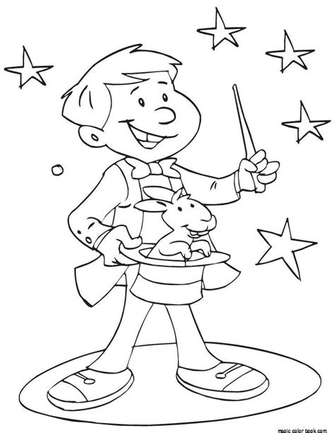 magician  printable coloring pages magic crafts
