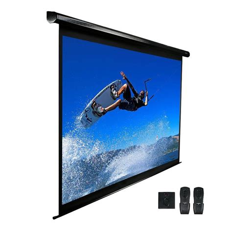 elite screens   electric projection screen