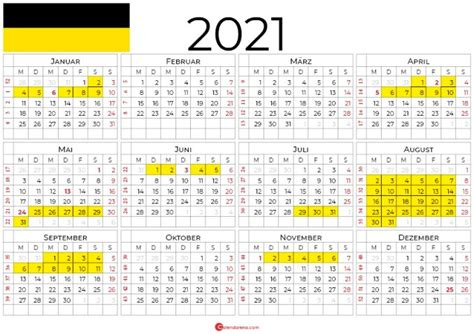 Ferien nrw 2021 kalender nordrhein westfalen 2021 download. kalender 2021 Baden-Württemberg zum Ausdrucken