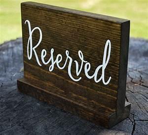 Wedding, Reserved, Sign, Wooden, Rustic, Wedding, Reception, Decor, Sweetheart, Tab, U2026