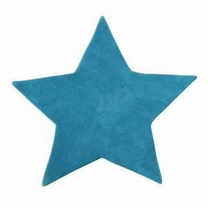 etoile cotton rug in turquoise l 100cm maisons du monde With tapis enfant turquoise